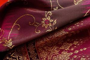 antik asiatisk textil foto