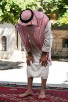 ödmjuk muslimsk bön foto