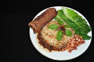 vegetabilisk nasi lemak foto