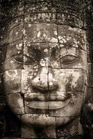 ansikte av bajon i antika khmerriket foto