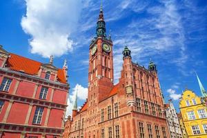 historiskt stadshus i gdansk foto
