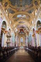 interiör i jesuitkyrkan, Wien foto