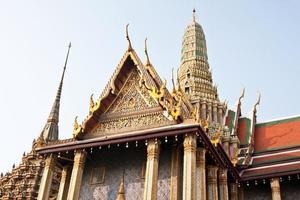 wat phra kaew, tempel för smaragdbuddha, bangkok, thailand foto