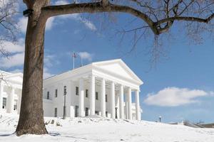 Virginia State Capitol - Richmond på vintern foto