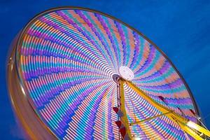 färgglada pariserhjul foto