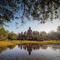 bayon templet, Angkor Thom, siem skördar, Kambodja. foto