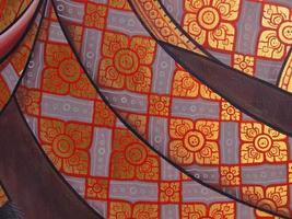 väggkonstmålning i templet Thailand foto