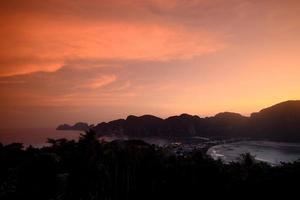 Thailand krabi phi phi öar foto