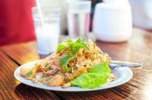 thailändsk grapefruktsallad foto