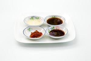 blanda ingredienser till en thailändsk maträtt foto