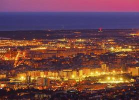 blå timme i barcelona foto