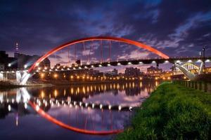 regnbågsbro (taipei, taiwan) foto