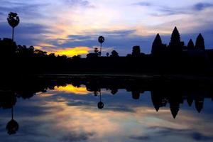 Angkor wat soluppgång, Kambodja foto