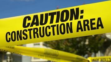 varning konstruktionstejp. foto