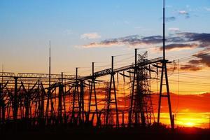 kraftförsörjningsanläggningarna foto