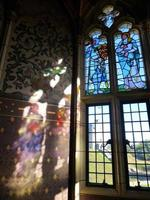 ängel från målat glas foto