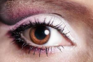 kvinnors öga med fransar