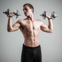 fitness med hantlar foto