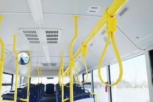 handtag för stående passagerare foto