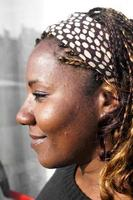 afrikansk dam porträtt foto