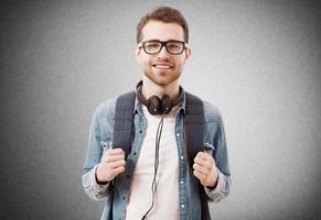 porträtt av en ung man foto