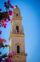 klocktorn i lecces katedral, Italien foto