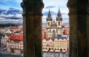 utsikt över gamla stan prag, Tjeckien.