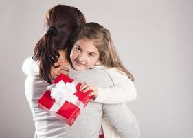 dotter och mor foto