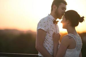 vackra par i staden foto