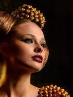 skönhet ung kvinna, närbild, riktig skönhet flicka