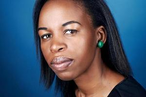 afrikansk kvinnastående foto