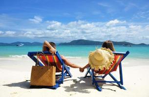 par på en strand foto