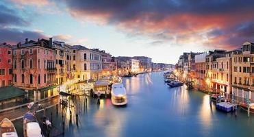 Venedig - Grand Canal från Rialto Bridge foto