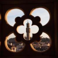 palazzo vecchio från giottos klocktorn foto