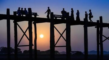 u bein bridge, myanmar foto