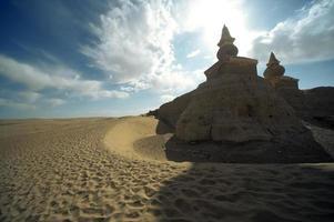 Kina xixia-dynastin ruiner foto