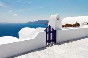 vackra detaljer om santoriniön, Grekland foto