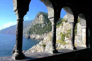 utsikt över Portovenere, Italien foto