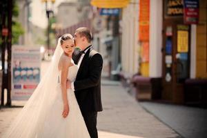 mode bröllopsdag foto