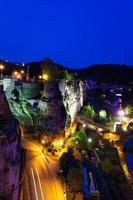 dent creuse på natten i luxembourg foto