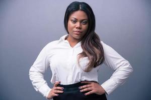 porträtt av en vacker afrikansk affärskvinna foto