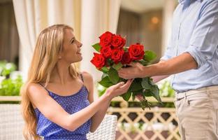 romantiskt datum foto