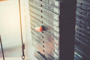stålplatta i gymmet foto