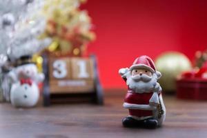 jultomten prydnad foto