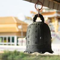 stor klocka i templet foto