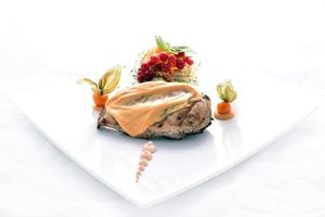 grillad kyckling och grönsaker foto