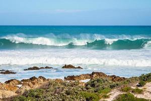 havsvågor under dagen foto