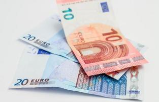 20 och 10 euro sedlar foto