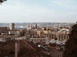 Flygfoto över staden Marseille foto