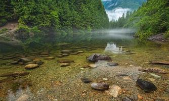 foto av floden med lugna vatten
